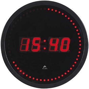 10fb157a10 Alba HORLED Horloge Murale LED Noir / Rouge - Prise électrique UK ...