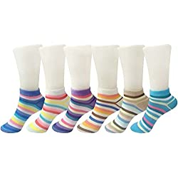 Ladies Hub Cotton Loafer Socks - Pack of 6