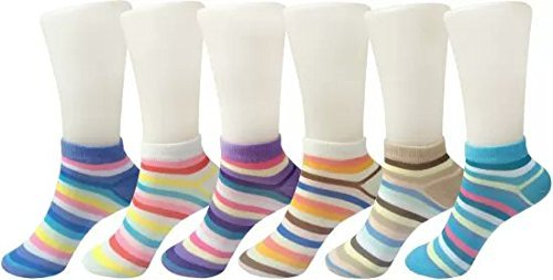 Ladies Hub Cotton Loafer Socks - Pack of 6