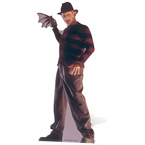 Galletas Cut Outs Freddy Krueger Life Size Cartón Cut out, Negro