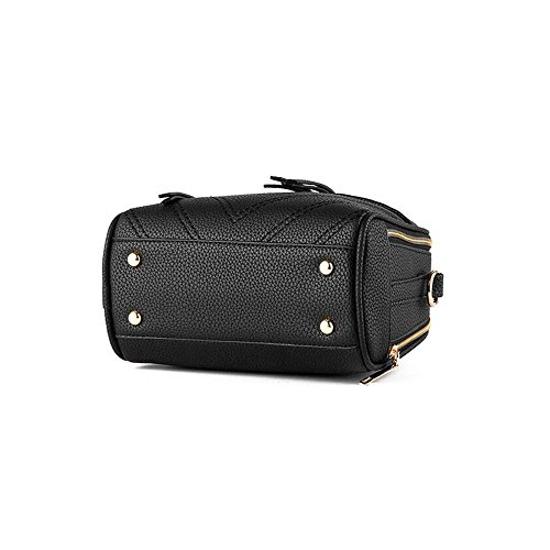 Toopot Borsa della borsa della borsa della borsa della borsa delle donne semplice borse della borsa della moda di modo borsa sveglie delle ragazze (GRIGIO CHIARO) ROSA ROSSO