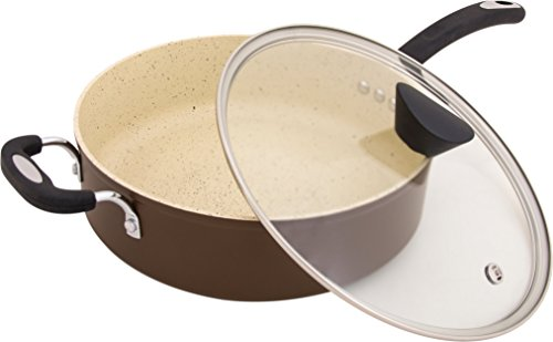 The Stone Earth All-In-One Sauce Pan by Ozeri, with 100% APEO & PFOA-Free Stone-Derived Non-Stick Coating from Germany