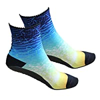 RANDY SUN Non Slip Seamless Beach Socks With TPE Sole, Volleyball, Yoga, Sand Playing, Exercise, Aqua Water Sports Shoes Breathable Quick-Dry Flexible