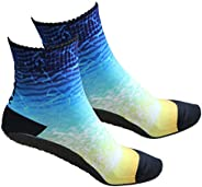 RANDY SUN Non Slip Seamless Water Shoes Beach Socks With TPE Sole, Volleyball, Yoga, Sand Playing, Exercise, A
