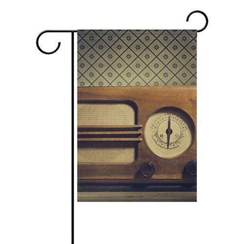 enflagge Radio Banner 30,5 x 45,7 cm für den Außenbereich, Haus, Garten, Blumentopf, Dekoration, Party, Hausflagge ()
