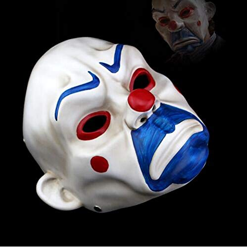 hwertige Harz Joker Bankräuber Maske Clown Batman Dark Knight Halloween Prop Maskerade Party Kostüm, Bild Farbe ()