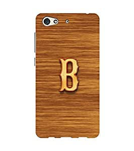 YuBingo Designer Printed Plastic Mobile Back Case Cover Panel for Gionee S10 ( Bold Letter B (3D Looking Wooden Printed on Plastic) )
