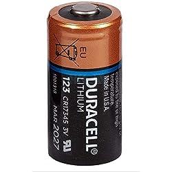 wns-emg-world Duracell Ultra Photo Foto Lithium Batterie CR123A EL123 CR17345 Paquet de 10 pièces