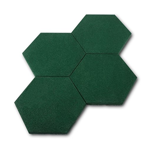 casa-pura-hexagon-rubber-safety-paving-mats-pack-of-4-30x30cm-green-3-colours-available