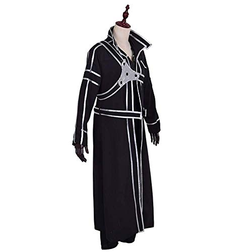 MX kingdom Schwert Art Online SAO Kirito Kazuto Kirigaya Mantel Cosplay Kostüm-Outfit