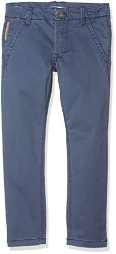 NAME IT Jungen Hose Nittimber Slim/Xsl Dnm Chino Nmt Noos, Blau (Dress Blues), 140