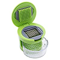 Goldedge Small Garlic Chopper Easy to Travel, Green