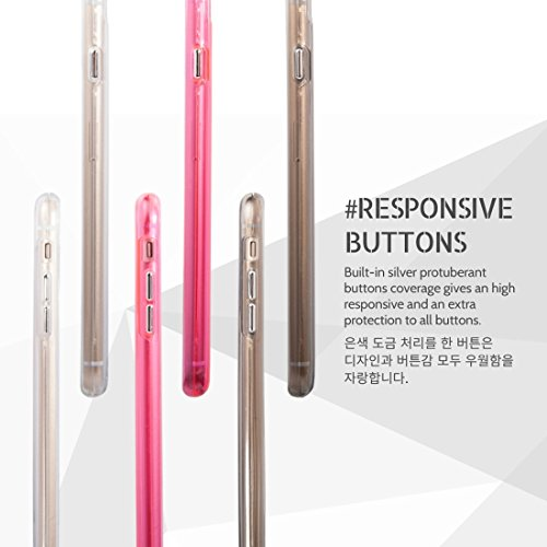 Hülle für iPhone 7 plus , Schutzhülle Für iPhone 7 Plus Soft TPU Stoßstange + Hard PC Skin Kombi Fall ,hülle für iPhone 7 plus , case for iphone 7 plus ( Color : Transparent ) Magenta