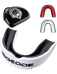 SGODDE Predator Paradenti, Sportivo Custodia Protettiva per Materiale Eva Adatta per Boxe, Taekwondo, Lotta e Basket ECC.(Bianco e Nero)