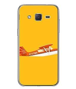 PrintVisa Designer Back Case Cover for Samsung Galaxy J2 Pro (2016) (Hovercraft wings Birds Sky Orange)