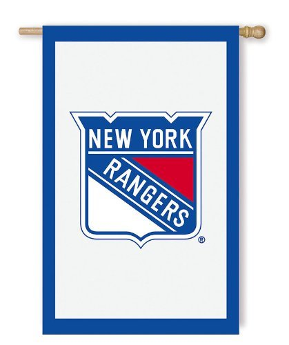 NHL New York Rangers 28'' x 44'' Double-Sided Applique Flag - White by Fans With Pride