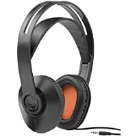 One For All HP1010 Cuffie con cavo (Over-Ear per TV/Musica/PC) – con Tecnologia Clear Voice integrata - Nero