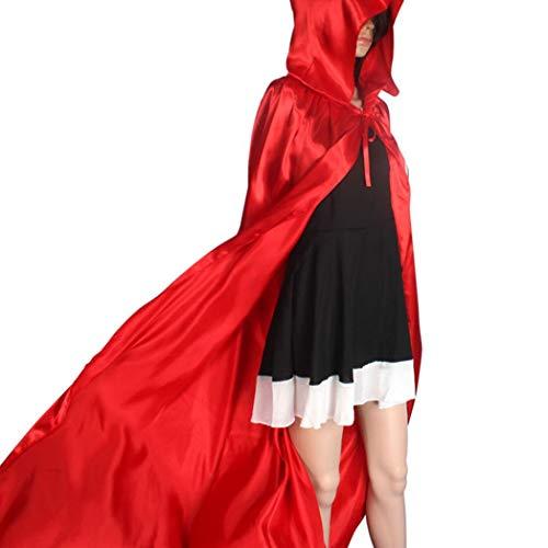 YunYoud Kapuzenmantel Mantel Wicca Robe Mittelalterliche Cape Schal Halloween Party halloween kostüme vampir umhang schwarzer horror kostüm mittelalter halloween dekoration