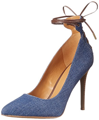 Pompa Nine West Ebba Fabric Dress Blue/Dark Brown