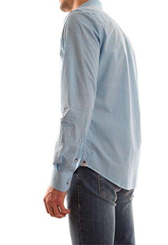 Ganesh Hommes chemise imprimé floral Bleu Blu
