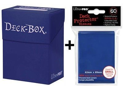Ultra Pro Deck Box + 60 Small Size Protector Sleeves - Blau - Blue - Yu-Gi-Oh! - Japanese Mini Deck Box Yugioh