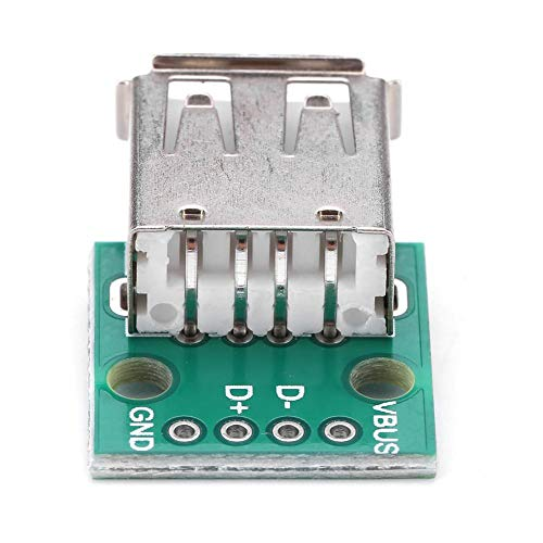 Akozon 10 Stücke USB Typ A Buchse Breakout Board 2,54mm Pitch Adapter Stecker DIP für DIY USB stromversorgung/breadboard design Usb-buchse