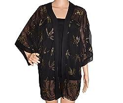 URBAN TRENDZ 2786 Polyester Sequence work Kimono Topper