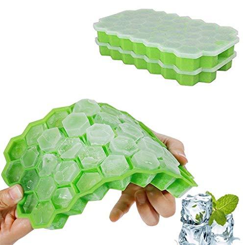 Mitlfuny -> Haus & Garten -> Küche , Dining & BarWabenform Eiswürfelbereiter 2Pcs Eiswürfelschale Eiswürfelform Vorratsbehälter