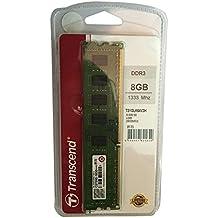 Transcend 8GB DDR3 1333MHz DIMM 8GB DDR3 1333MHz módulo de - Memoria (8 GB, 1 x 8 GB, DDR3, 1333 MHz, 240-pin DIMM)