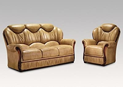 Model name Teodora 100% Bonded Italian leather Three Piece Suite 3 1 1 Full Suite sofa set available in 9 colours and 9 wood colours by Privilege UK Ltd
