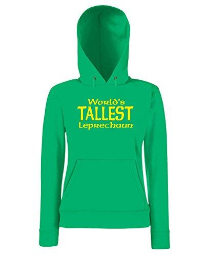 T-Shirtshock - Sweatshirt a capuche Femme TIR0227 worlds tallest leprechaun dark tshirt Vert