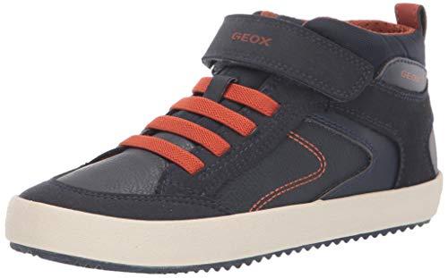 Geox J Alonisso Boy N, Zapatillas Altas para Niños, Azul (Navy/Dk Orange C4218), 27 EU
