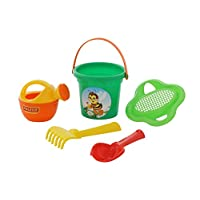 Polesie 4535 240 Size Flower Sieve Shovel No. 2 Rake No. 2 Watering Can No. 3-Sets: Bucket, Small, Multi Colour