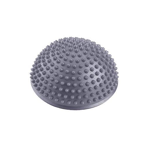 Dilwe Yoga Übungen Hälfte Bälle, PVC Aufblasbare Trainer Fitness Massage Point Fitball Yoga Balance Ball, Silber -