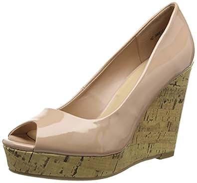 New Look Women's Oxygen Open-Toe Heels, Beige (14/Oatmeal), 4 UK 37 EU