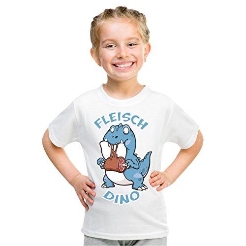 Kinder T-Shirt Fleisch Dino Weiß