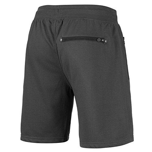 Mount Swiss Herren MS Short, Liam, Anthracite, Gr. L/Kurze Hose/Jogginghose / Sweatpants aus 100% Baumwolle - 2