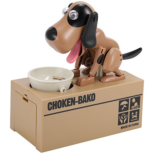 BeesClover Choken Puppy Hungry Fressen Dog Coin Bank Spardose Spardose -