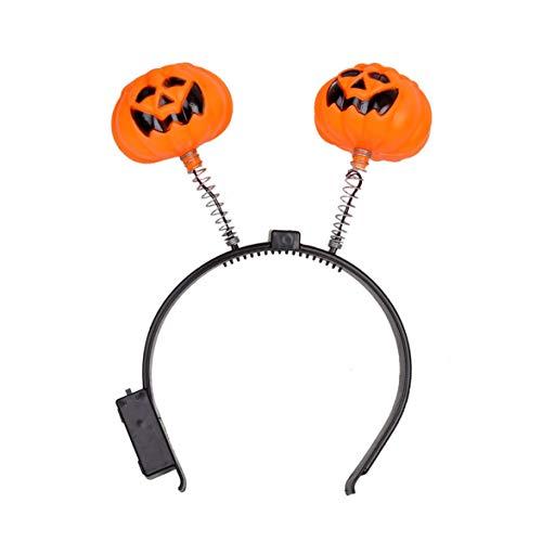 Kongqiabona Halloween Fashion Leuchtende Licht Kürbis Stirnband Halloween -