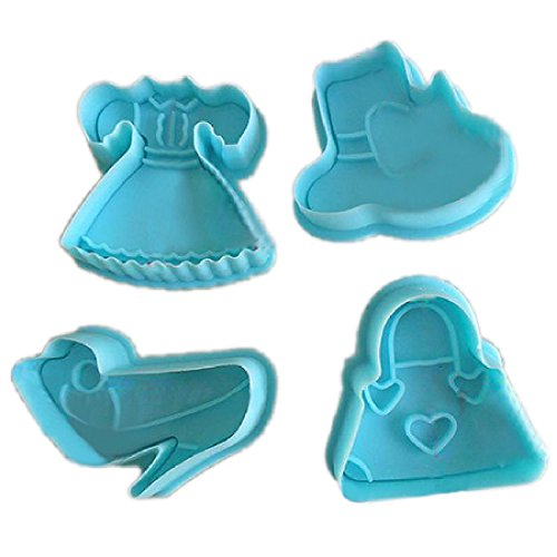 joyliveCY 4/Set hochhackige Schuhe kompatibel mitm Kuchen Cookie Paste Sugarcraft Backen Plunger Cutter kompatibel mitm Specialized zufällige Farbe -