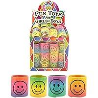 12 x Mini Smiley Springs - Party Bag Fillers by MunchieMoosKids