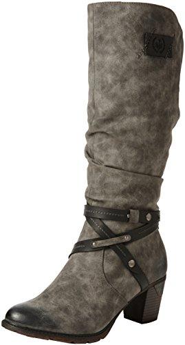 Rieker Damen 96054 Warm gefüttert Classics Langschaft Stiefel und Stiefeletten, Grau (Smoke/Black/45), 40