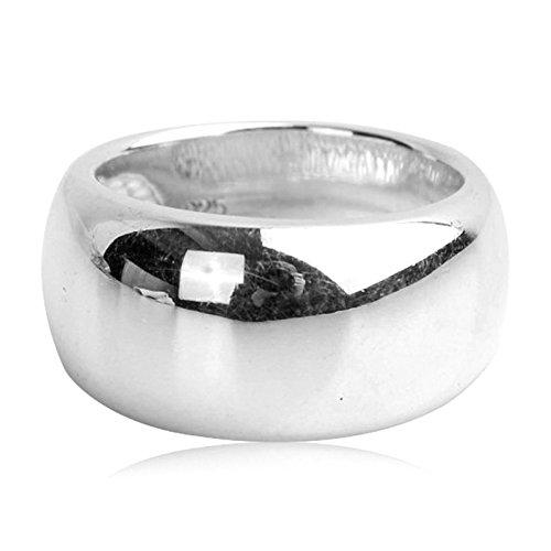 Adisaer Sterling Silber Ring Herren Silber 925 Gothic Ringe Runde Hohe Poliert Ringgröße 64 (20.4) für Männer Retro (Sterling Silber Siegelring Männer)
