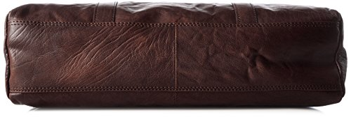 Spikes & Sparrow - Zip Bag, Borsette da polso Donna Marrone (Dark Brown)