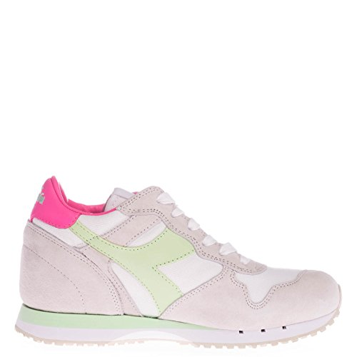 20117058801C6166 Diadora Heritage Sneakers Femme Chamois Gris Blanc