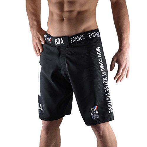 BOA Bõa Equipe de France 2018fightshort, Short de Combat Hombre, Hombre, Color Negro, tamaño XS
