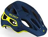 Rudy Project Protera Helmet Blue camo/Yellow Fluo 2019 Fahrradhelm
