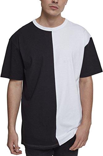 Oversize Harlequin Tee, T-Shirt Homme, Multicolore (Black/White 00050), XXLUrban Classics