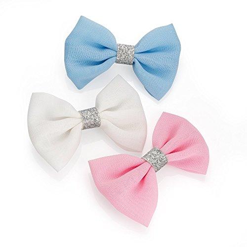 Bleu Rose Blanc Pinces paillettes bec cheveux nœuds