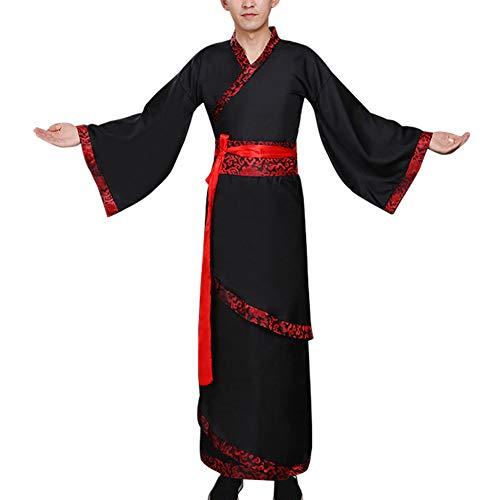 Daytwork Chinesisch Uralt Herren Hanfu - Dynastie Rollenspiel Klassischen Tang Anzug Cosplay Minister Bühnenshow Ethnische Alten ()
